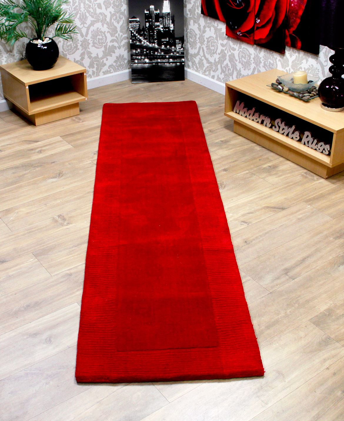 100 Wool Border Thick Quality Modern Long Carpet Hall Way Runner Rug 60x230cm  eBay