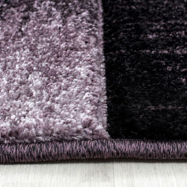 Modern Contemporary Black Grey Brown Purple Swirls