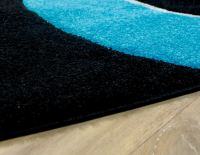 Black And Teal Rugs