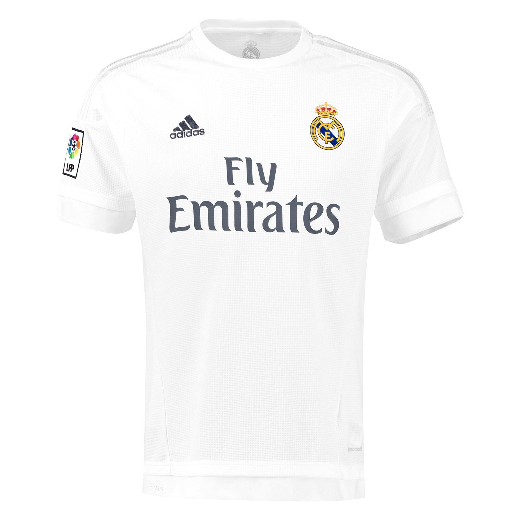 adidas Mens Real Madrid Football Home Shirt Jersey T-Shirt