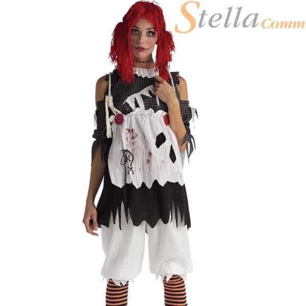 Ladies Rag Doll Halloween Fancy Dress Costumes Scary