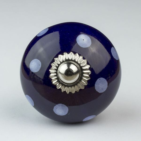 Blue White Navy Ceramic Door Knobs Handles Furniture