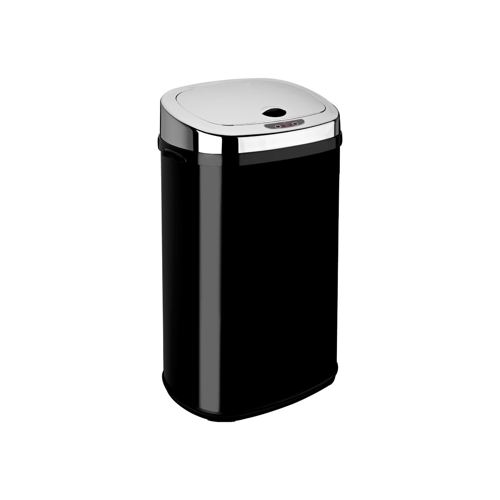 red kitchen trash can tile top table rectangle round white black silver sensor