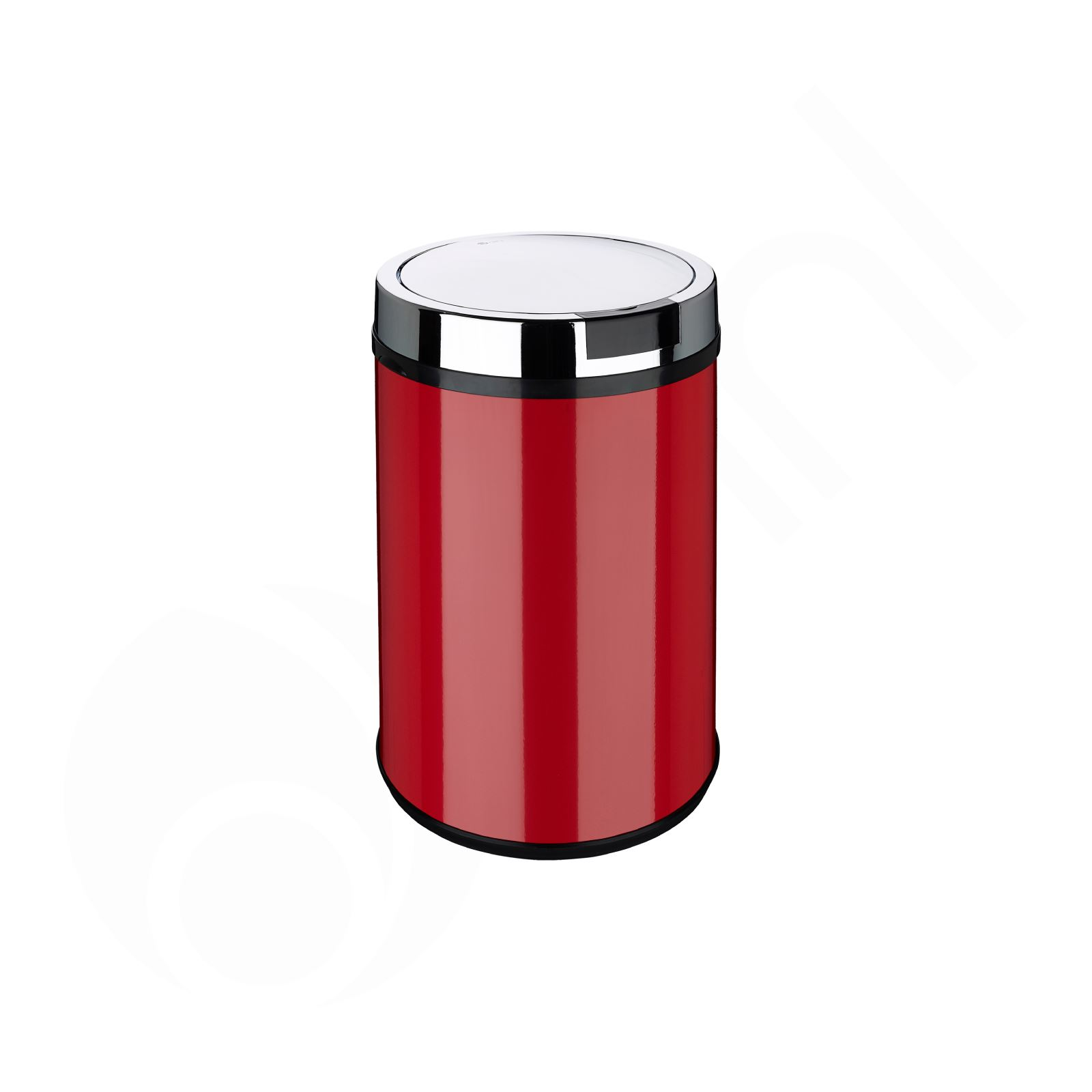 red kitchen trash can tables with bench rectangle round white black silver sensor