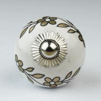 Black White Silver Grey Ceramic Door Knobs Handles ...