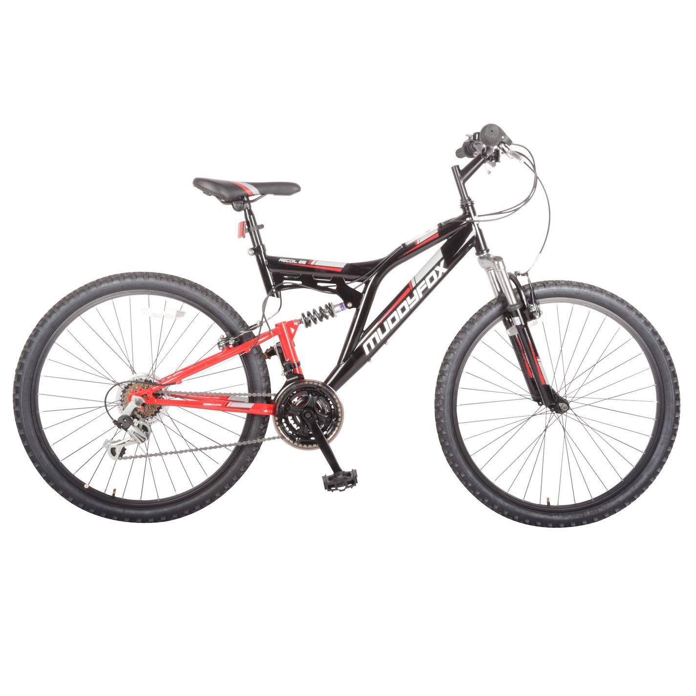 Muddyfox Mens Recoil26 Mountain Bike Dual Suspension