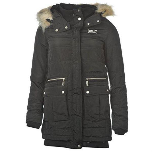 Faux Fur Trim Hooded Jacket for Women