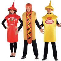 American Food Adults Fancy Dress Dinner Ketchup Mustard ...
