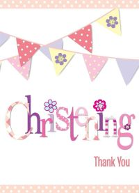Christening Boy Girl Tableware Pink Blue Decorations Party