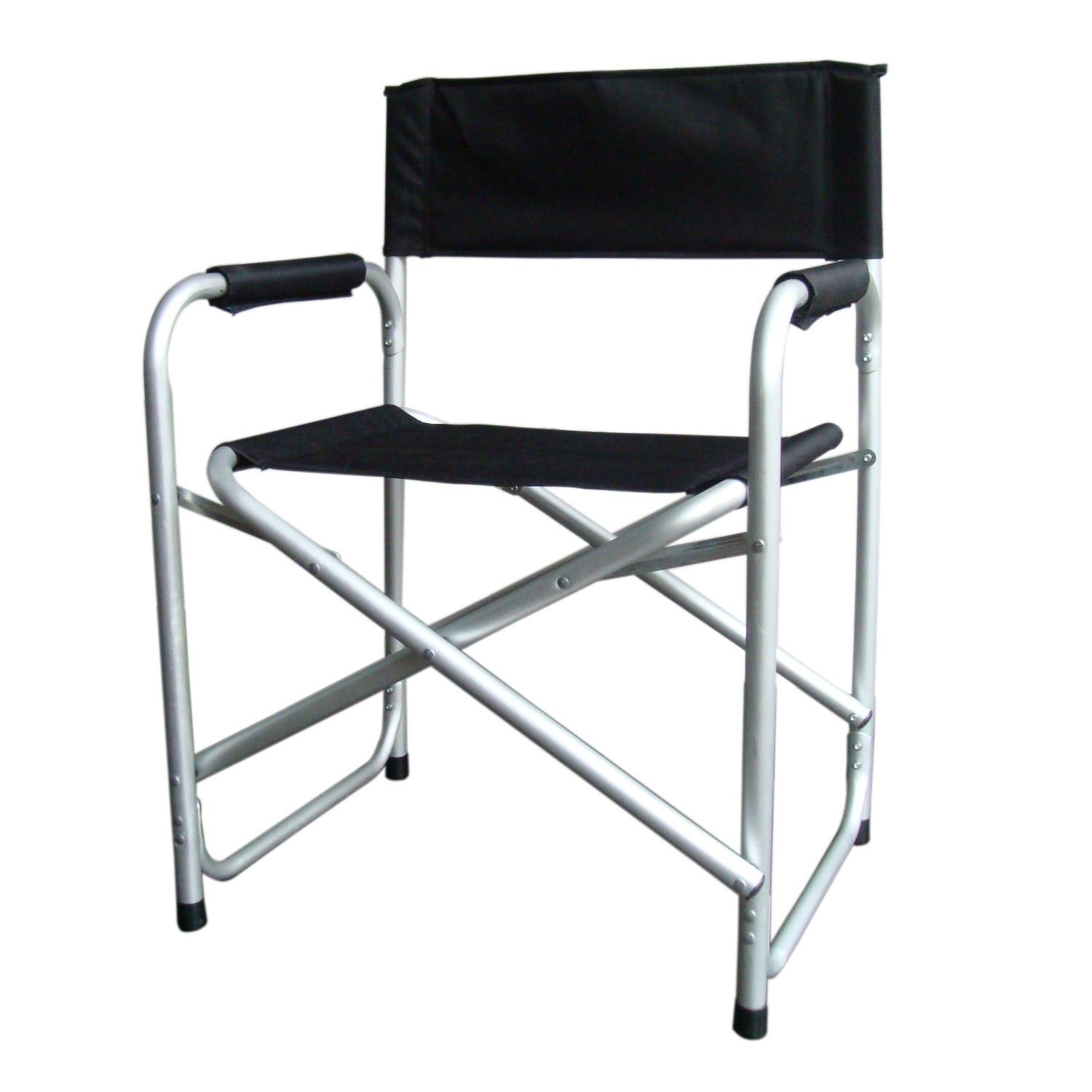 directors chair outdoor furniture rx racer black lightweight folding w table arms