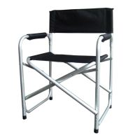 Black Lightweight Folding Directors Chair W/ Table Arms ...