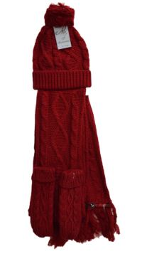 - Womens Ladies Woolly Thick Knit Hat Scarf And ...