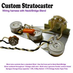 Strat Wiring Diagram Bridge Tone Parallel Battery Fezz Parka Pre Wired Stratocaster Kit With Neck