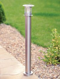 90CM STAINLESS STEEL OUTDOOR PATIO DRIVEWAY GARDEN LED ...