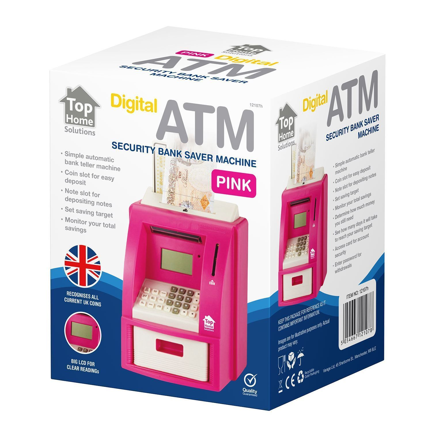 New Digital Coin Atm Money Counting Savings Electronic