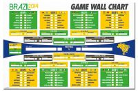 Brazil 2014 World Cup Wall Chart Poster Fixture List