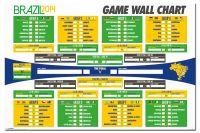 Brazil 2014 World Cup Wall Chart Poster Fixture List ...