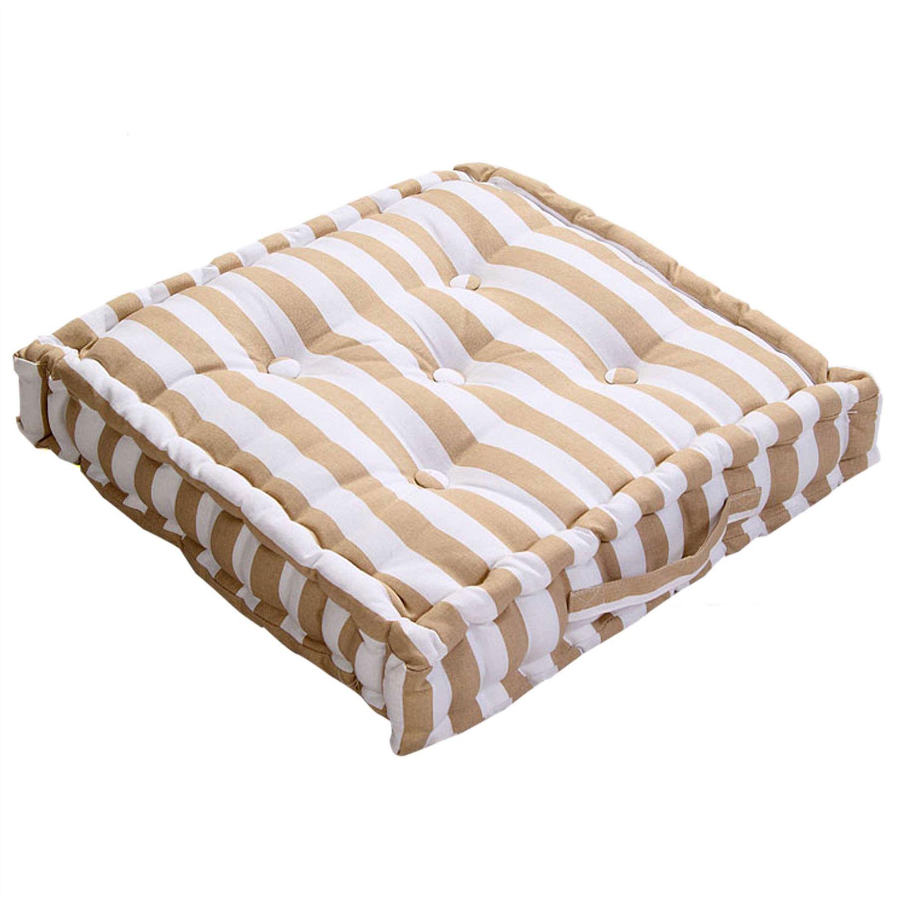 thick chair cushions mid century rattan and thin stripe floor cushion seat pad riser dining