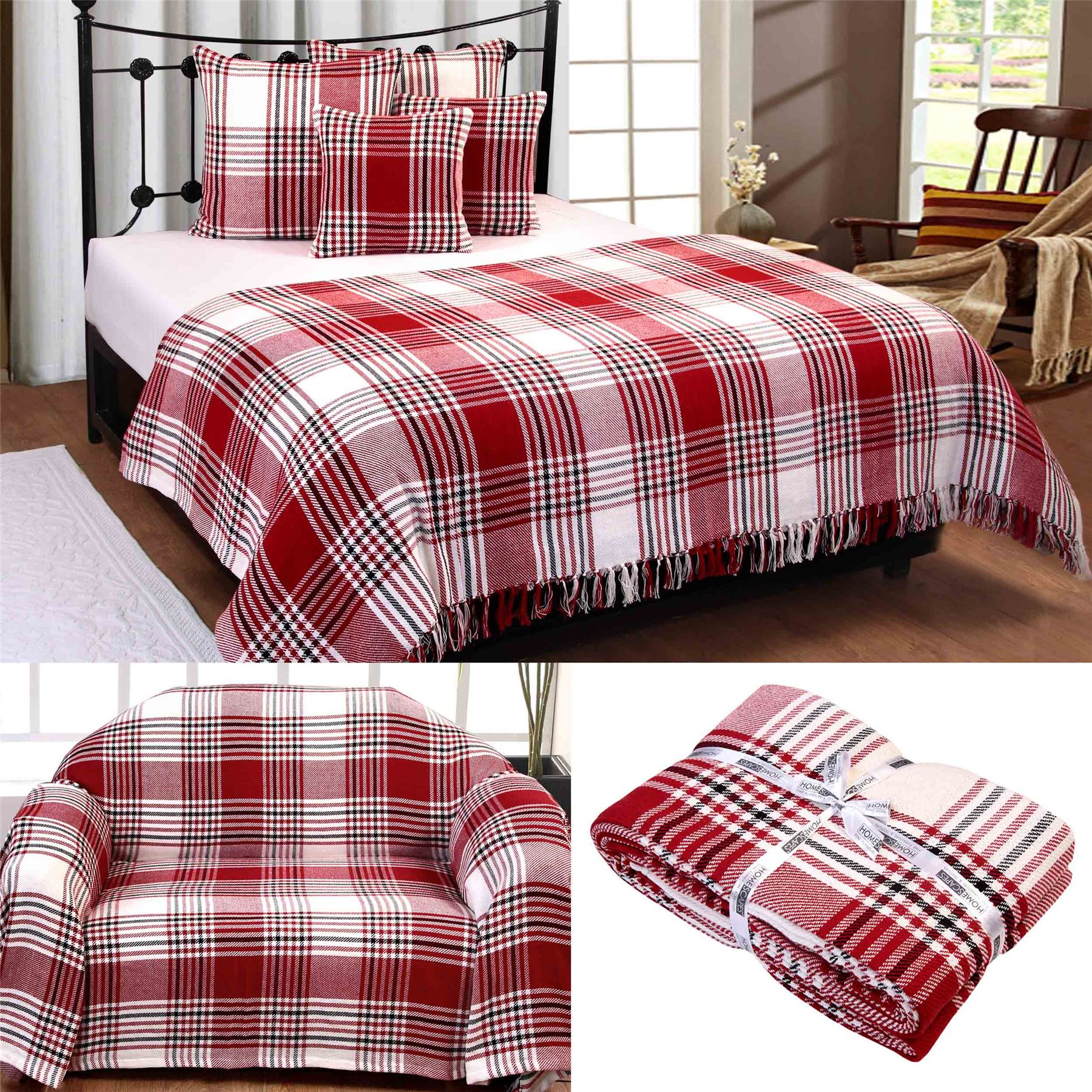 xl sofa throws wood furniture pictures cotton extra large tartan for sofas bed throw