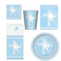 RELIGIOUS PARTY SET HOLY COMMUNION CHRISTENING CUPS PLATES ...