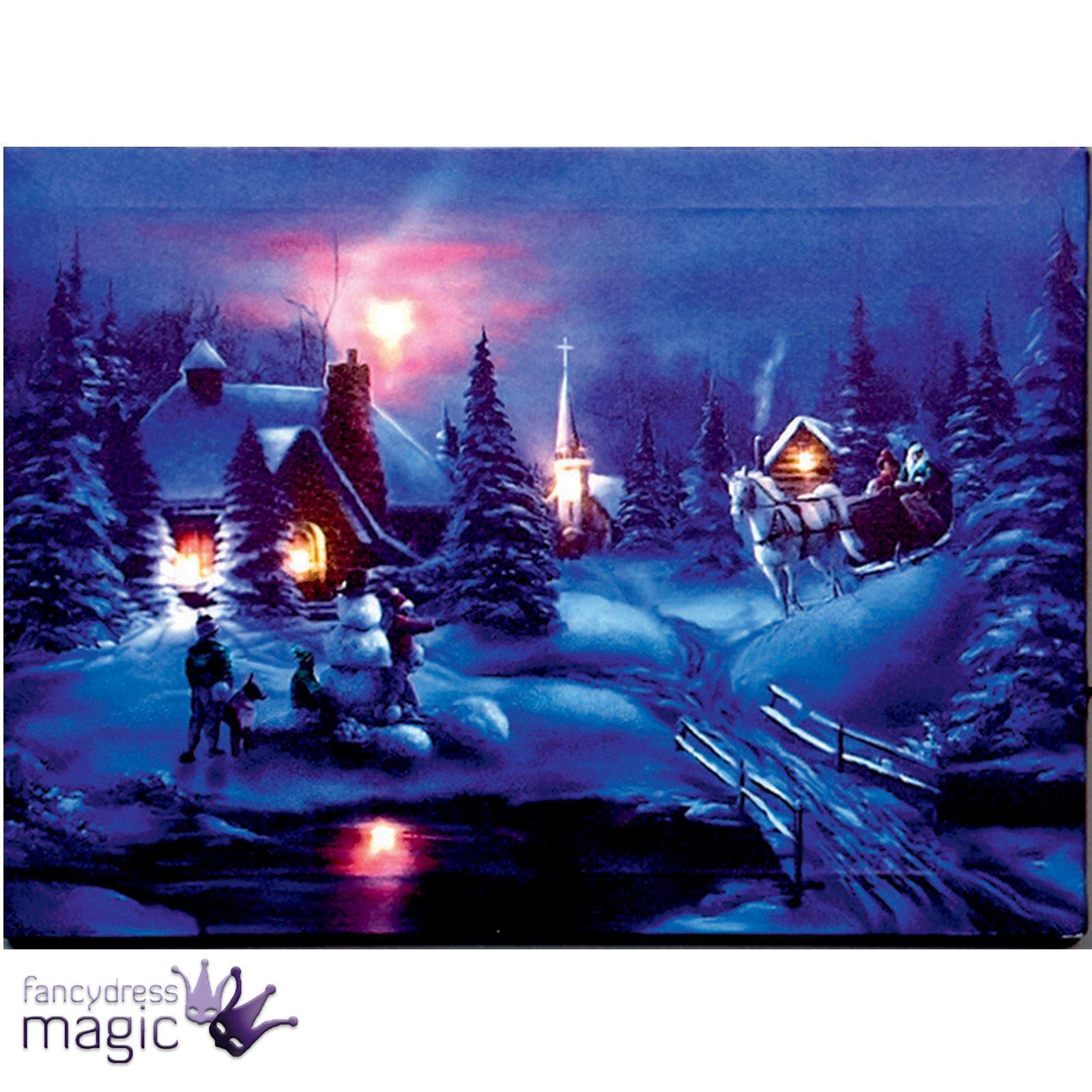 Flickering Light Canvas Christmas