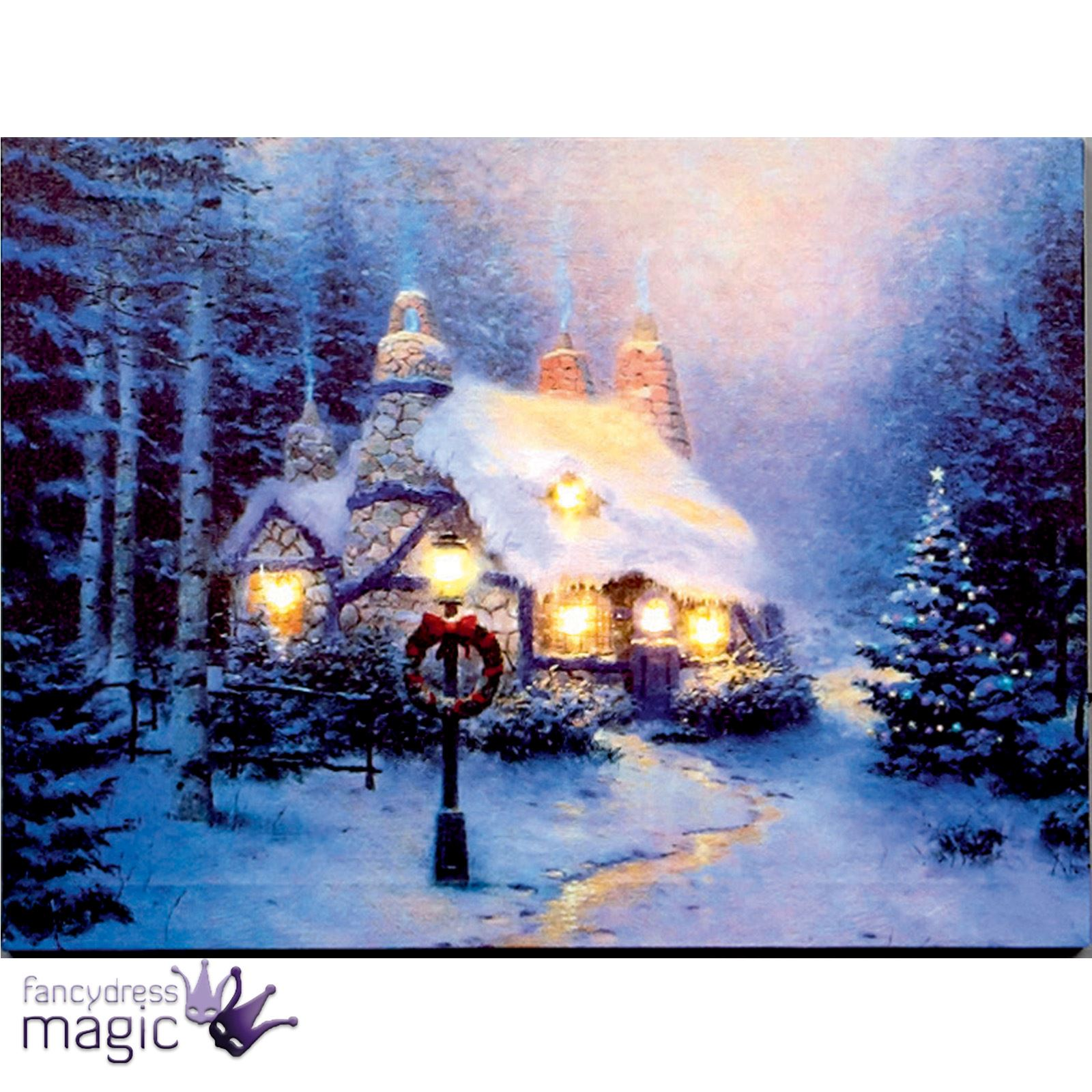 Christmas Scene Light Led Canvas