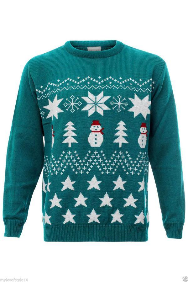 Womens Ladies Mens Reindeer Olaf Frozen Sweater Christmas