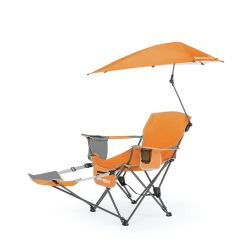 Folding Chairs With Footrest Purple Chaise Lounge Sportbrella Portable Camping Chair Recliner Seat