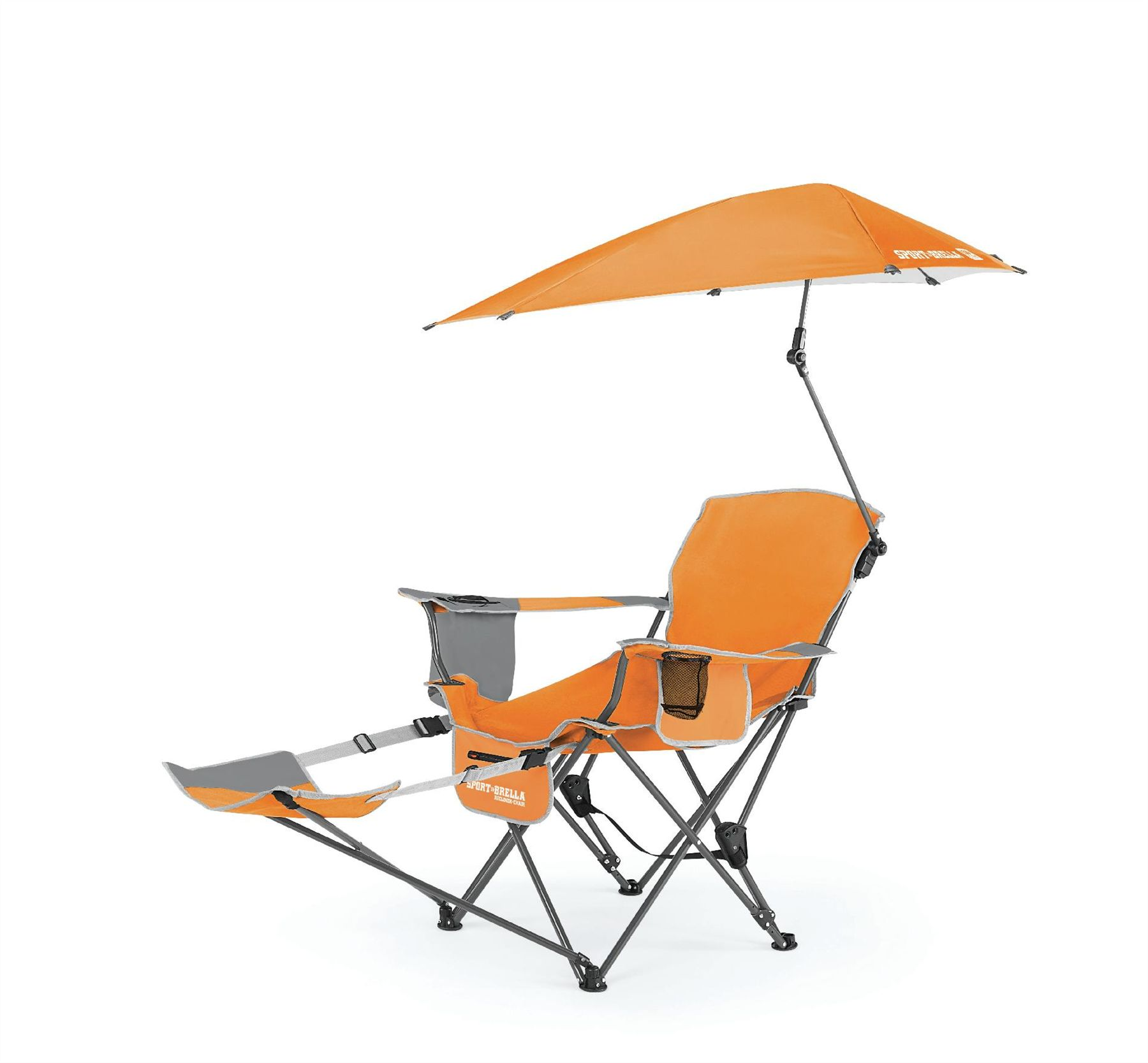 Reclining Camp Chair Sportbrella Portable Camping Chair Folding Recliner Seat