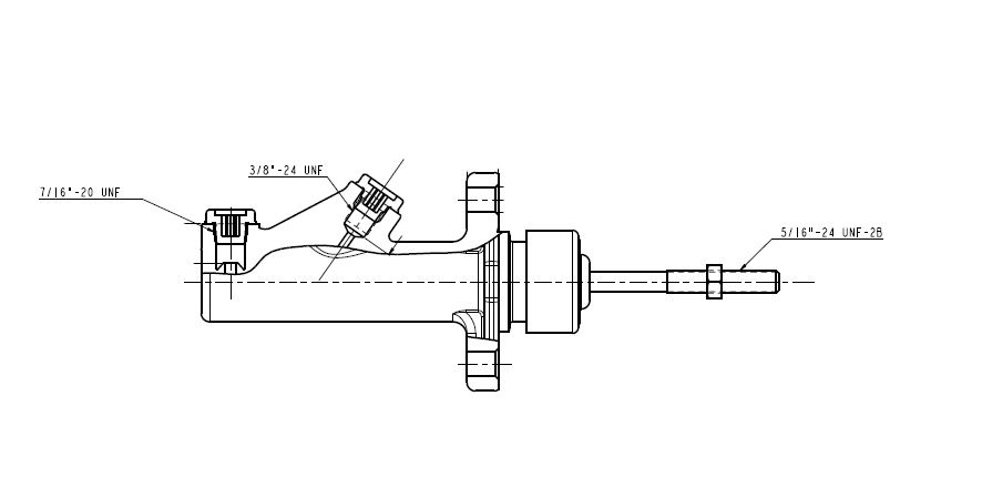 Universal Girling type remote master cylinders widely used