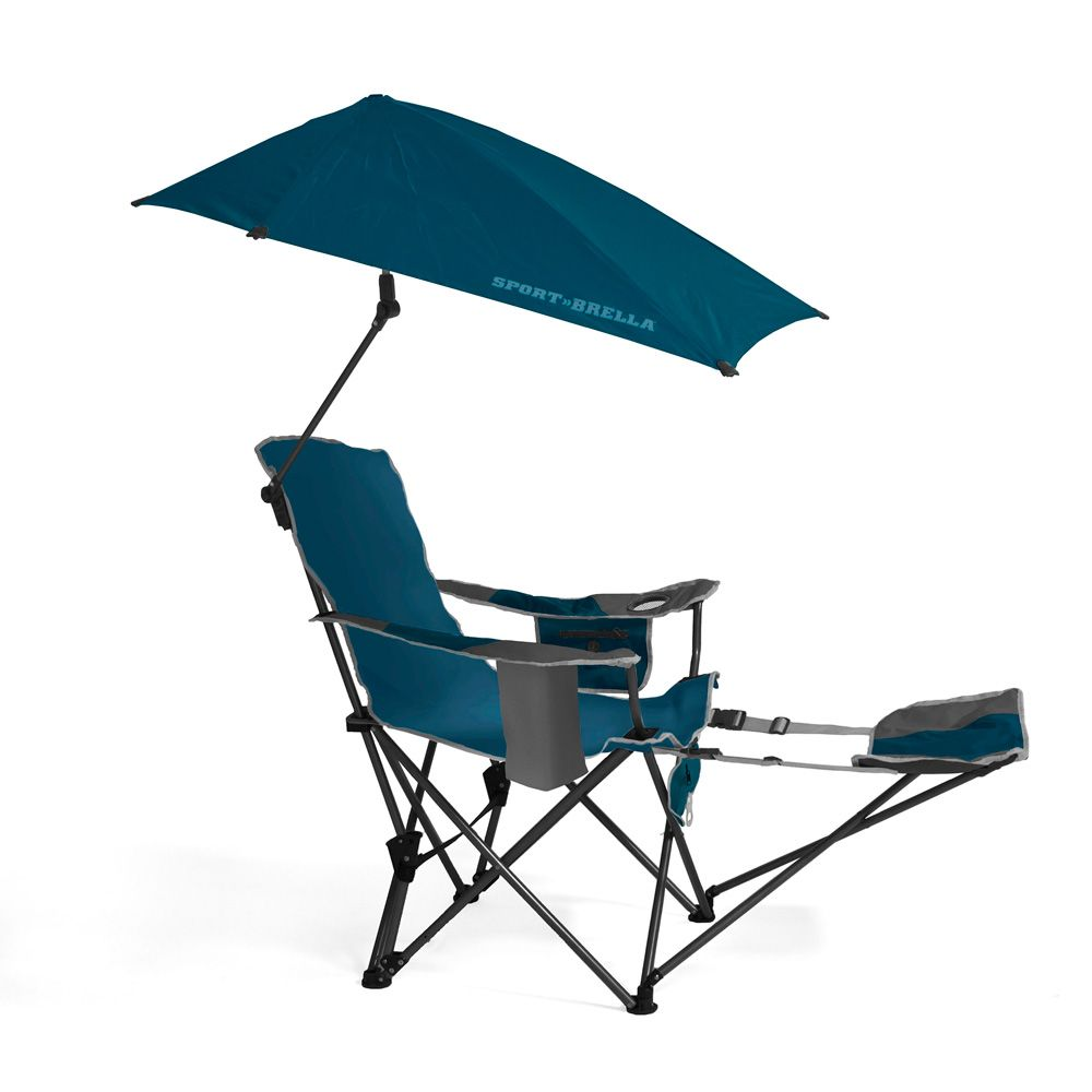 SportBrella portable camping chair folding recliner seat