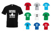 Capsule Corporation Gravity Chamber Mens Printed T-shirt
