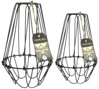 Vintage Cage Wire Lamp Shades Interior Design OLD Style | eBay