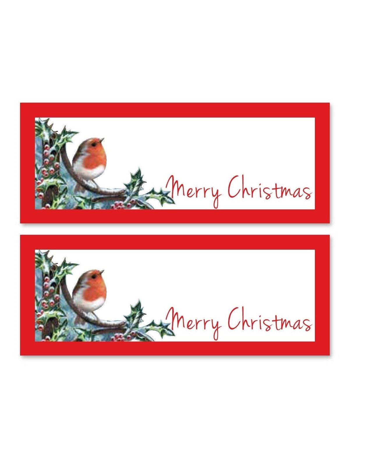 24 Robin Christmas Party Table Name Place Card Settings