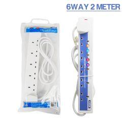 6 Way Extension Lead 3m Apexi Turbo Timer Wiring Diagram Power Mains Leads 2m 5m 10m 15m 20m 25m 2 4 8