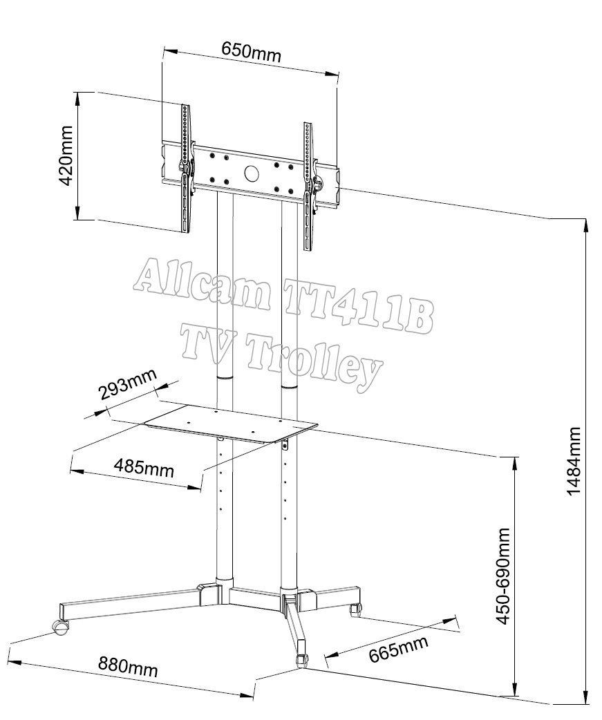 FS40 & TT41 Series Retail Display Stand for 32