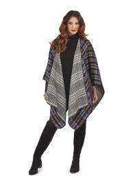 UK New Women Ladies Warm Winter Wrap Shawl Cape Poncho ...