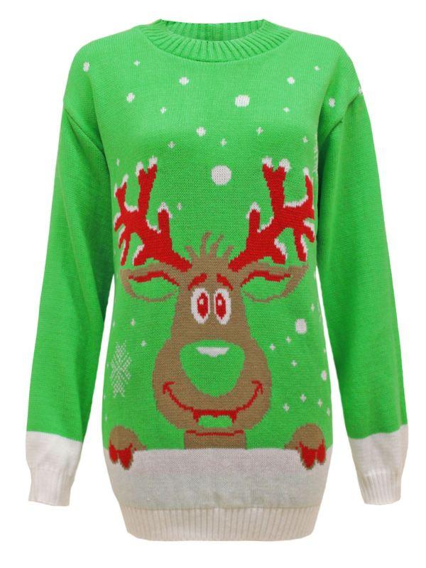 Womens Ladies Mens Knit Xmas Christmas Jumper Santa