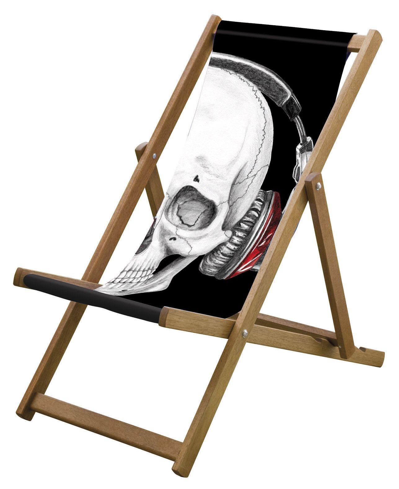 black skull chair small leather club lazy days deck bone phones summer garden