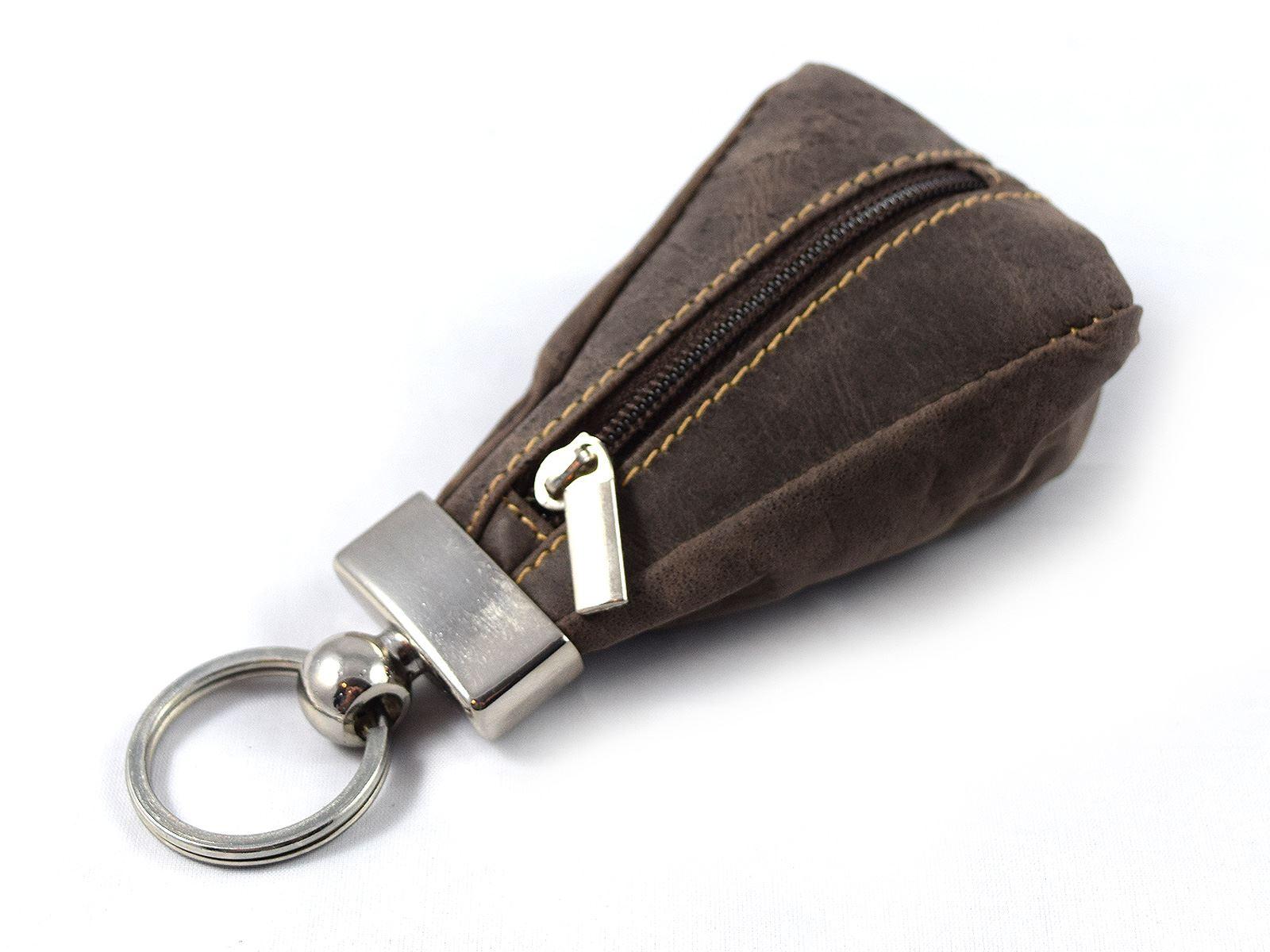 New Black Leather Key Case Holder Car Fob Coin Bag Purse