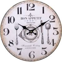 Large Vintage Rustic Wall Clocks Shabby Chic Kitchen Home ...