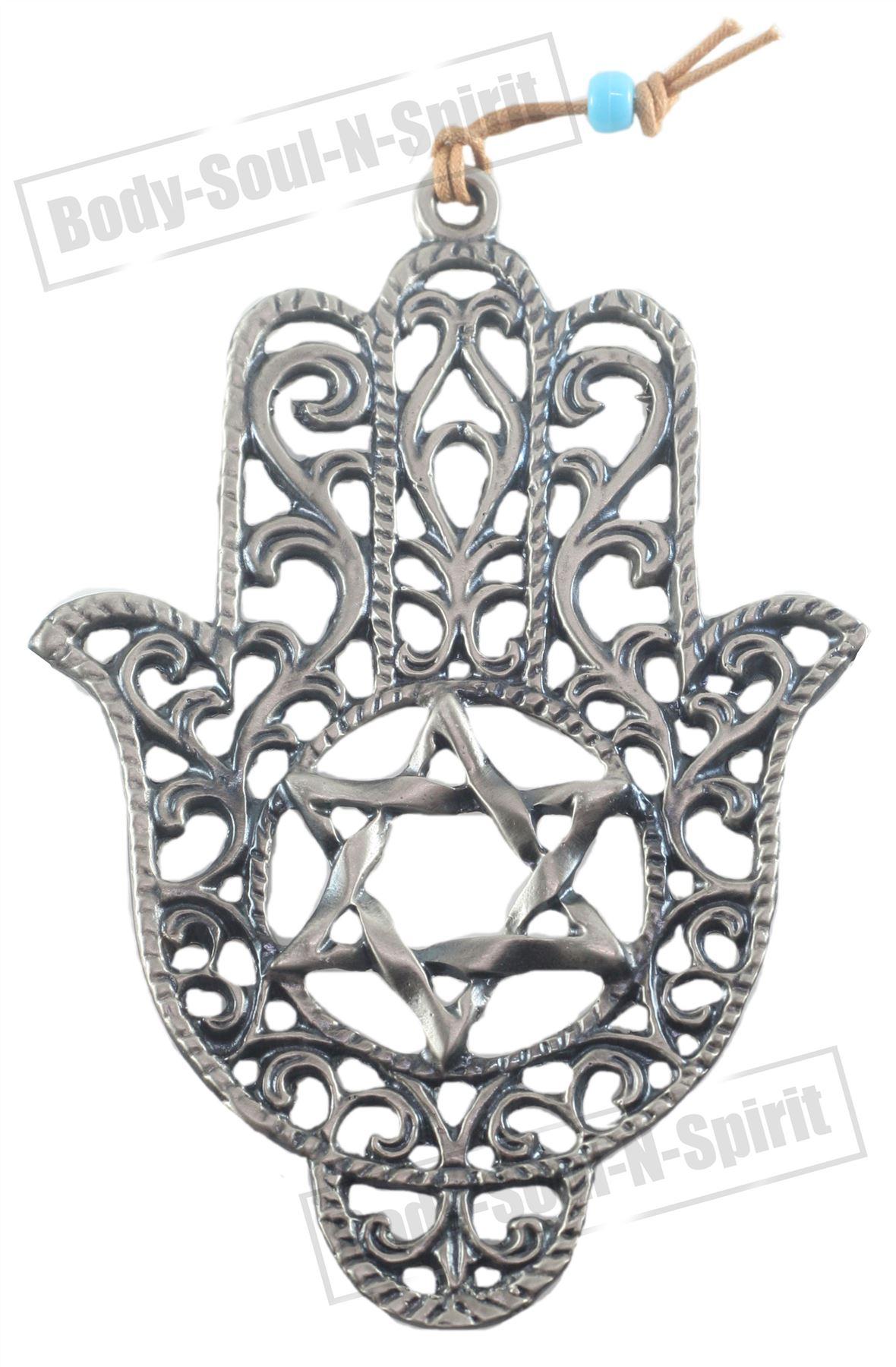 STAR DAVID evil Hamsa hand Silver plated Soul holy