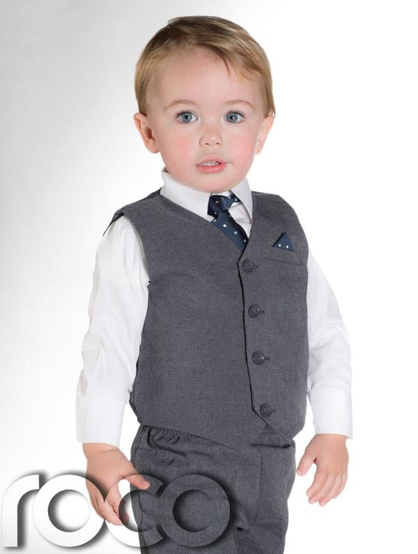 Boys Suits 4 Piece Waistcoat Suit Wedding Page Boy Baby