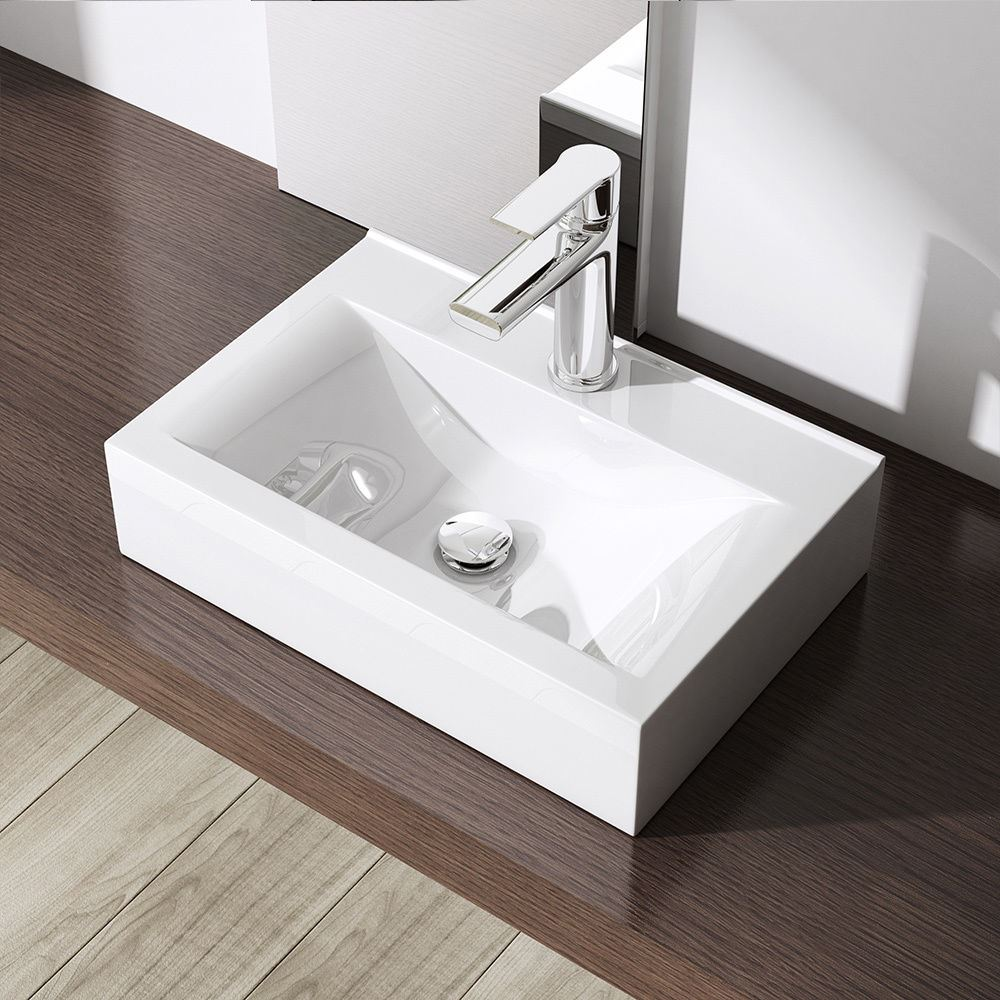 Durovin Bathroom Basin Sink Wall Mounted Hung Counter Top Ceramic Cloakroom New  eBay