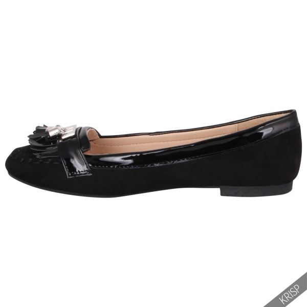 Womens Croc Snake Patent Fringe Penny Loafers Flats Pumps