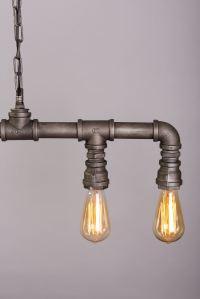 Steampunk pipe pendant vintage industrial light 5 edison ...