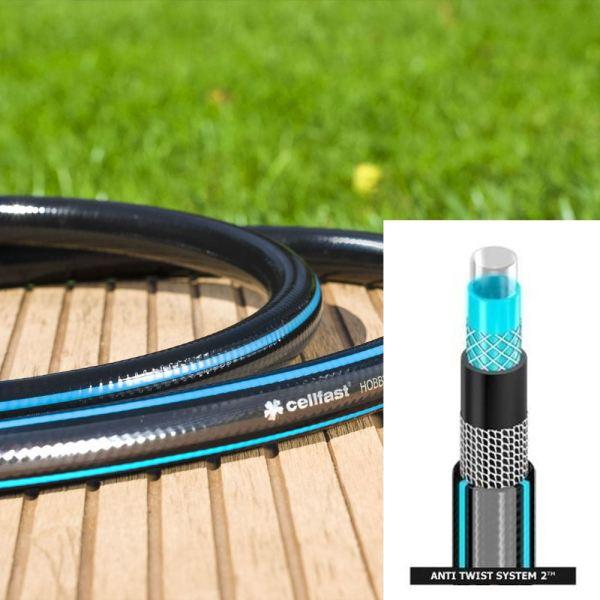 1 2 3 4 1inch Heavy Duty 6-layer Garden Hose Watering Pipe Reel Hosepipe