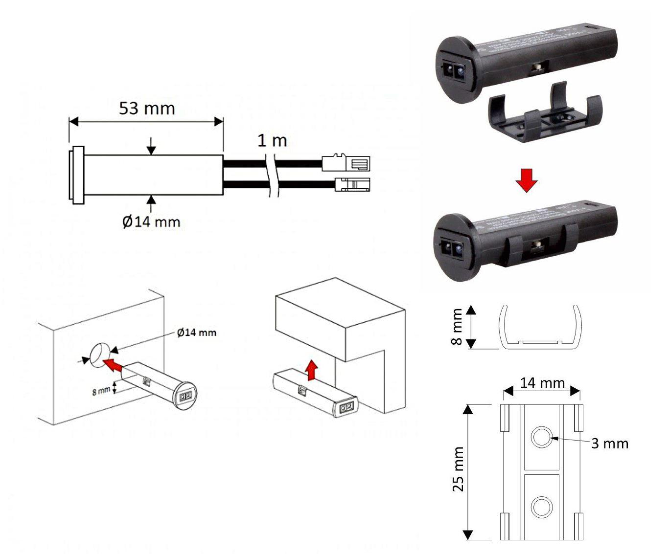 Indoor DC 12V 24W IR Infrared Motion Sensor Switch for LED