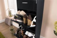 SLIMLINE SHOE CABINET HIGH GLOSS RACK STORAGE HOLDER