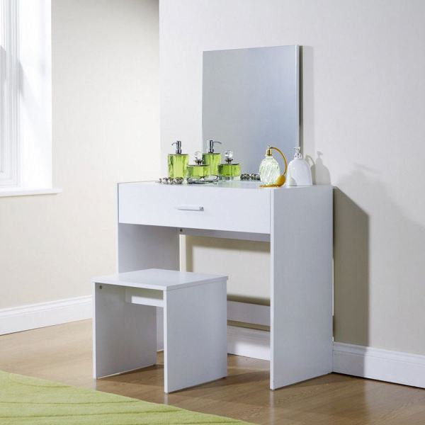 Julia Dressing Makeup Table Set Vanity Drawer Dresser Desk